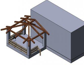 визуализация конструктива стропильной системы